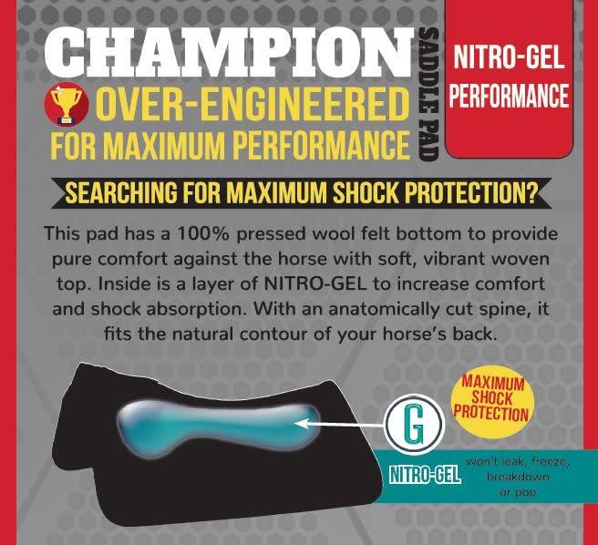 "Reinsman Nitro-Gel Performance Pad - 34""D x 38""L"