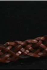 Outback Outback Trading Hat Band - Braided Brown Leather