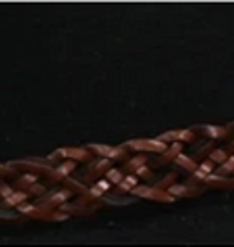 Outback Hat Band - Outback Trading Braided Brown Leather