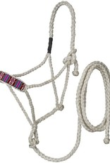 Tough-1 Beaded Mule Tape Halter with Lead