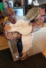 "14"" SQHB Wild Star Barrel Saddle, Snake Look Seat (REG $695.95 now $150 OFF!)"