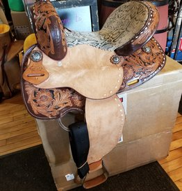 "14"" SQHB Wild Star Barrel Saddle, Snake Look Seat (REG $695.95 now $150 OFF!)"