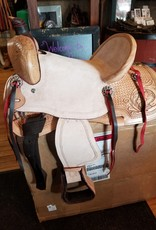 "13""  FQHB/Wide - Youth All-Around Roughout Hard Seat Saddle"