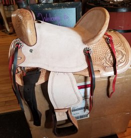 "13""  FQHB/Wide - Youth All-Around Roughout Hard Seat Saddle - Reg $545.95 NOW $100 OFF!"