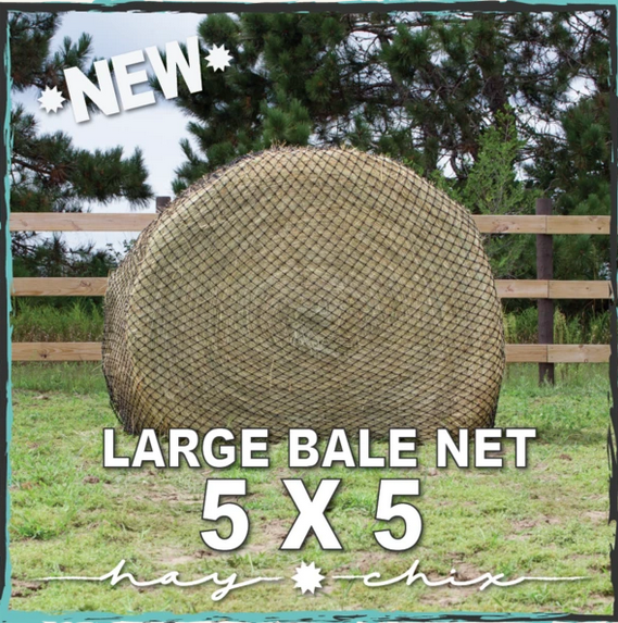 "Hay CHIX Hay Chix - L134x5G Large Bale Net -1-3/4 Hole Size - 5' Bale ""The Goldilocks"""