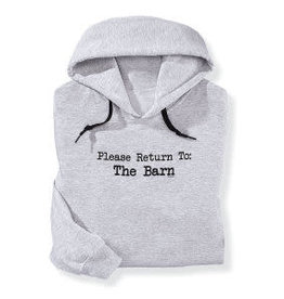 "Stirrups Women's Stirrups Hoodie - ""Please Return to the Barn"", Large"