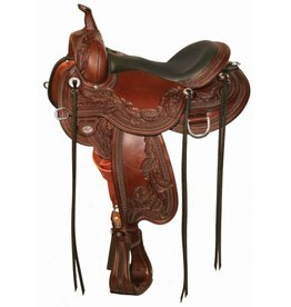 "Circle Y 16"" FQHB Julie Goodnight Peak Performance Circle Y Trail Saddle"