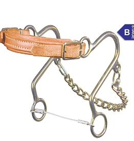 Reinsman Hackamore - Reinsman Little S, Leather Nose, Horse Size