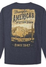 "Wrangler Men's Wrangler ""America's Western..."" Long Sleeve Tee - Denim Heather"