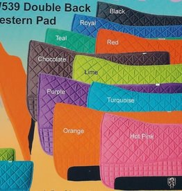 PRI Premium Western Double Back Horse Saddle Pad - Fleece Lined
