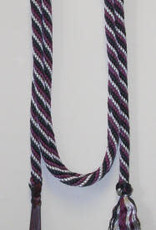 """Double Diamond Braided Poly Lead 5/8"""" with Popper. U.S.A. Made Black 12'"""