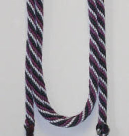 "Double Diamond Braided Poly Lead 5/8"" with Popper. U.S.A. Made Black 12'"
