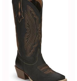 Justin Western Women's Justin Rein Western Boots - Midnight Black