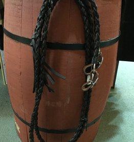 Circle L Round Braided Leather Split Reins - 7'