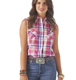 Wrangler Women's Wrangler Sleeveless Western Shirt - Rose Violet