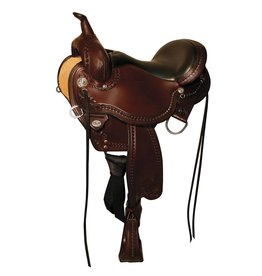 "Circle Y 16"" FQHB Circle Y Sheridan Flex2 Trail Saddle"