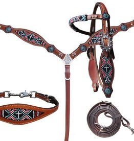 Showman Showman Tack Set - Beaded Navajo Cross