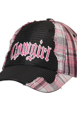 "Ball Cap - Plaid ""Cowgirl"""