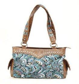 "Handbag - Satchel, Turquoise - 12""x5""x8"""