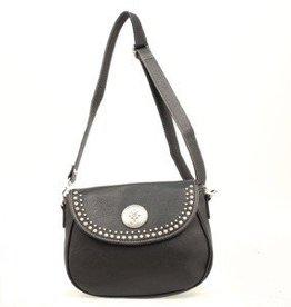 """Handbag - Shoulder Bag, Black - 11""""x4""""x8.5"""""""