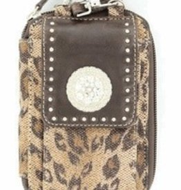"""M & F Cell Phone Case - iPhone Wallet, Tan - 3.5""""x5.5"""""""