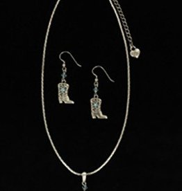 Set - Necklace/Earrings - Cowboy Boot