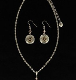 Set - Necklace/Earrings Horseshoe Texas Star