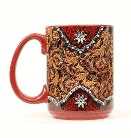 M & F Coffee Mug - Tooled/Rowel