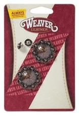 """Weaver Concho - 1-1/4"""" Antique Copper Berry Concho with Post"""