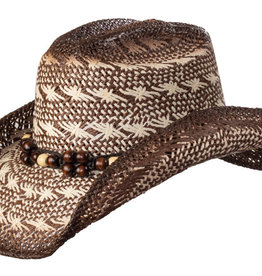 WEX WEX Brown & Ivory Straw Hat