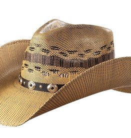 WEX WEX Tan & Black Weave Straw Hat