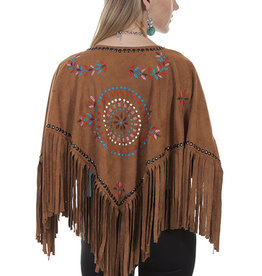 Scully Leather Women's Scully Embroidered Cape - Honey, Large