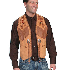 Scully Leather Men's Scully Suede Beaded Vest