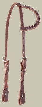 Martin Slip-Ear Headstall, D.Oil, U.S.A. Made