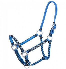 Tough-1 Braided Cord Halter with Crystal Accents - Horse Size