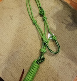 Rope Halter - Lime and Black with Lead - Horse