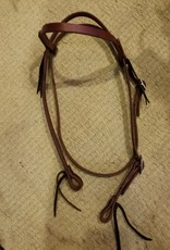 Circle L Circle L One Buckle Headstall - Horse Size Dk. Oil Plain