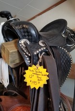 "Used Youth Spotted Western Saddle, Pony Bars - 12"" (Reg $195 now $40 OFF!)"