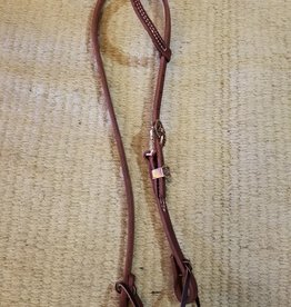 Circle L Circle L One Ear Headstall w/Barrel Racer Buckle & Keeper, D.Oil - Horse
