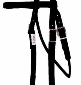Triple E Browband Nylon Trainer Headstall with Snaps - Horse Size