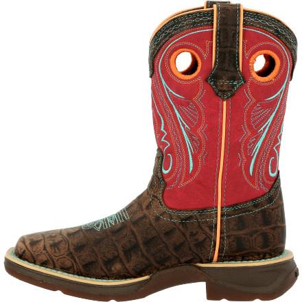 Durango Children's Durango Lil Rebel Gator Emboss Western Boot