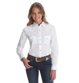 Wrangler Women's Wrangler White L/S Western Shirt