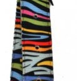 Showman Nylon Tie Strap and Off Billet Set - Rainbow Zebra