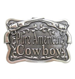 Belt Buckle - Antique Pure American Cowboy