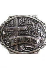"Belt Buckle - ""the Man Upstairs"""