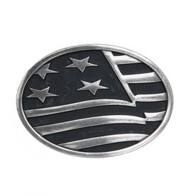 Belt Buckle - Waving American Flag