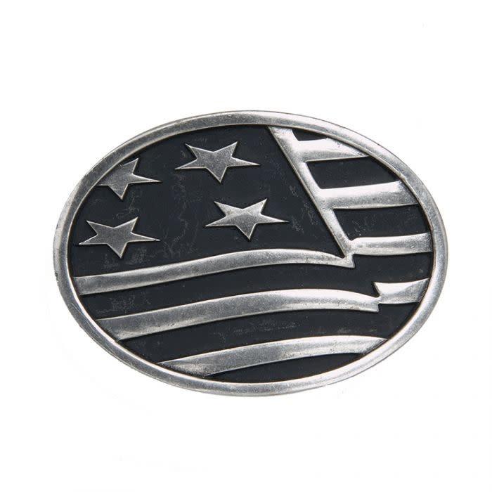 Belt Buckle - Waving American Flag