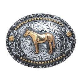 Belt Buckle - Standing Horse Oval
