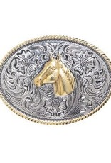 Belt Buckle - Oval Horsehead