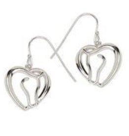 Earrings - Horse Head & Heart